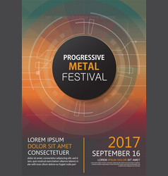 Progressive metal festival concert invitation vector