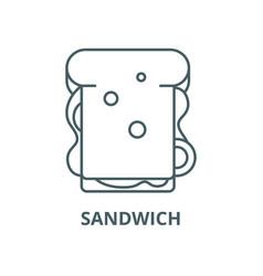 sandwich line icon linear concept outline vector image