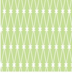 seamless background White grid on the green vector image