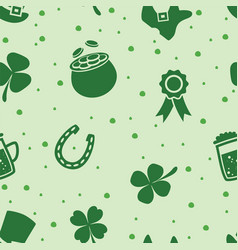 Seamless pattern of irish st patricks day vector