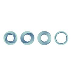 set of gradient logos templates vector image
