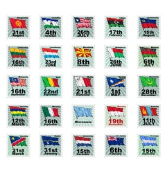 set of national stamps 04 vector image