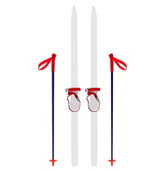 Ski equipment vector image