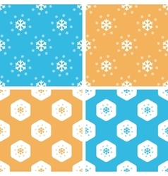 Snow pattern set colored vector image