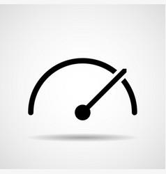 speedometer tachometer sign with arrow symbol vector image