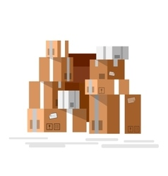 stacked sealed goods vector image