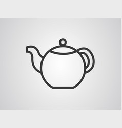 teapot icon sign symbol vector image
