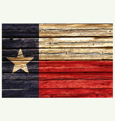 Texas tx flag on rustic old wood wall vector