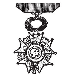 The legion of honor is a military decoration of vector