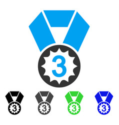 Third place flat icon vector