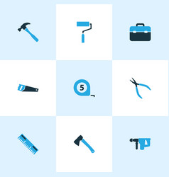 Tools colorful icons set collection of meter vector