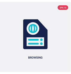 Two color browsing icon from literature concept vector