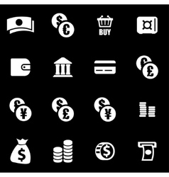 White money icon set vector