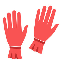 Woman red gloves for autumn or winter seasons vector