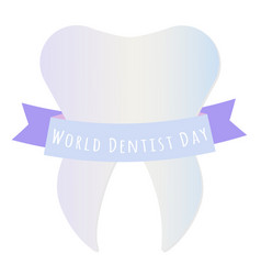 world dentist day vector image