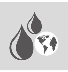 World oil industry consumption vector