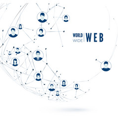 world wide web concept social media global vector image