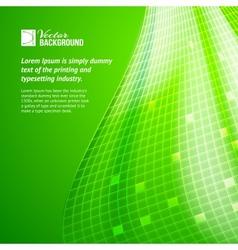 Abstract green mosaic vector image vector image
