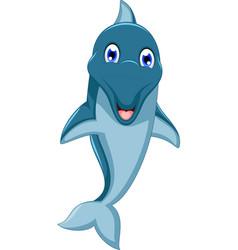 cute dolphin cartoon jumping vector image vector image