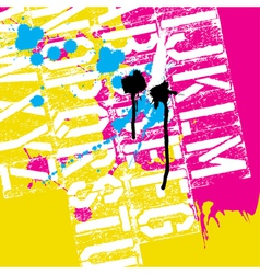 grunge cmyk colors abstract background vector image