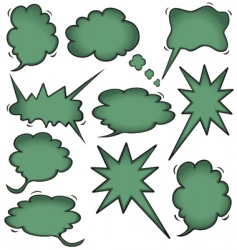 idea cloud bursts and bubbles vector image vector image