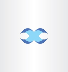 letter x blue sign logotype icon design vector image vector image
