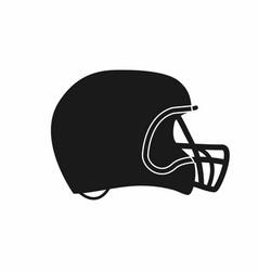 american football helmet icon simple monochrome vector image vector image