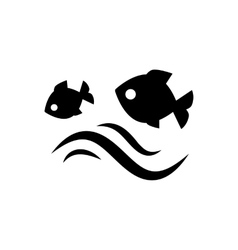 Fish jumping in water vector image