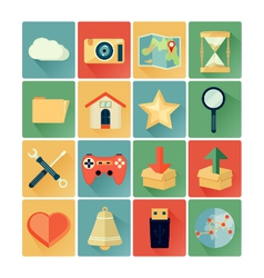 flat icons web vector image vector image