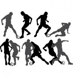 footballers vector image