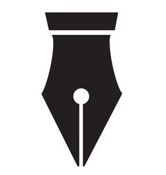 fountain pen icon on white background pen nib vector image