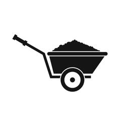 Garden wheelbarrow icon simple style vector image vector image