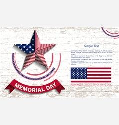 memorial day card vector image vector image
