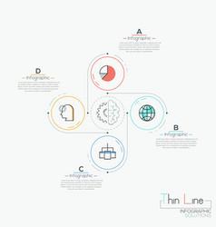 modern infographic design template 4 circular vector image vector image
