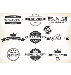 Satisfaction guarantee label and vintage premium vector