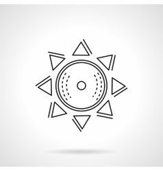 Abstract sun flat line icon vector image vector image
