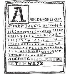 Alphabets vector image vector image