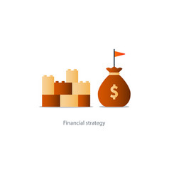 financial stability concept budgeting and vector image vector image