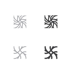 neuron logo template neuro neuron symbol vector image