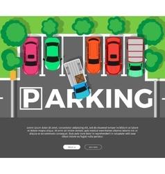 Parking Conceptual Web Banner Car Park vector image