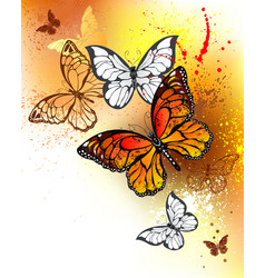 summer butterflies monarchs vector image vector image