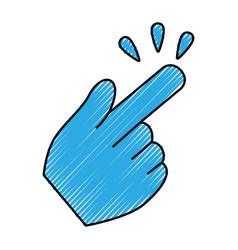 hand click cursor symbol vector image vector image