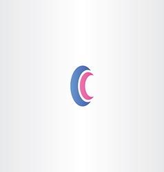 Logotype letter c logo sign c vector