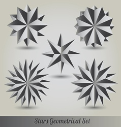 Set star polyhedron for graphic design vector image vector image