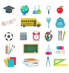 back to school education icons set vector image