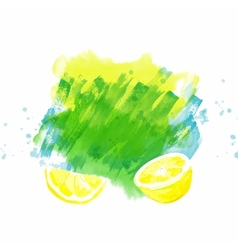 Background with lemon vector