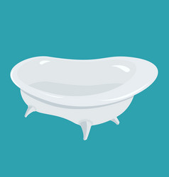 Bathtub isolated bath on white background vector