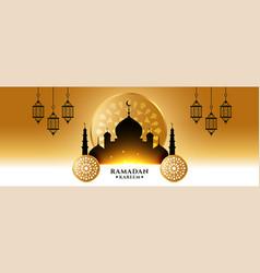 Beautiful ramadan kareem islamic banner vector