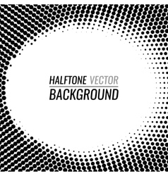 Black and white dot halftone background vector