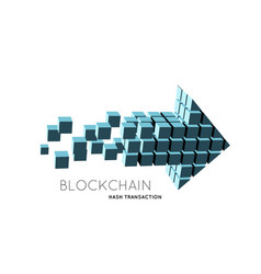 blockchain in form of vector image